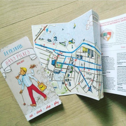 A new HandPicked #reykjavik map with our favorite restaurants, shops and activities in the city-  fresh from the printers #iceland #gourmet #picky #foodie #handpicked #shopping